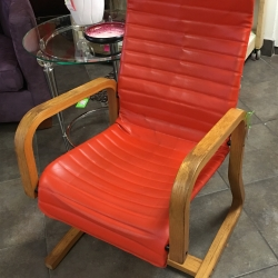 Consignment Furniture Vintage Orange Leather Chair