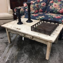 Consignment Furniture White Farm Coffee Table