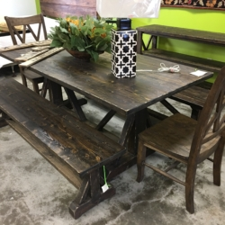 Handmade Farm Table and Bench Consignment Furniture