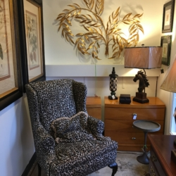 Leopard Wingback Consignment Furniture Louisville KY