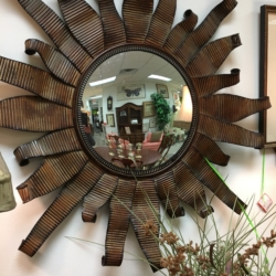 Metal Sun Mirror Consignment Furniture