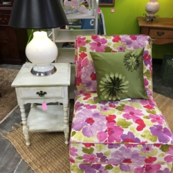 Floral Chair Painted Side Table Used Furniture Louisville Ky