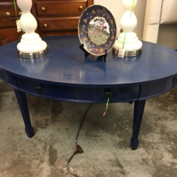 Painted Oval Blue Coffee Table Louisville Ky