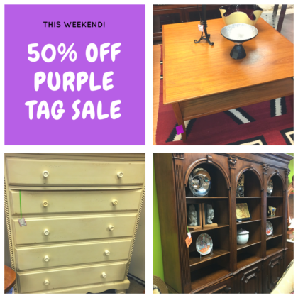 50% Off this weekend! Great selection of furniture