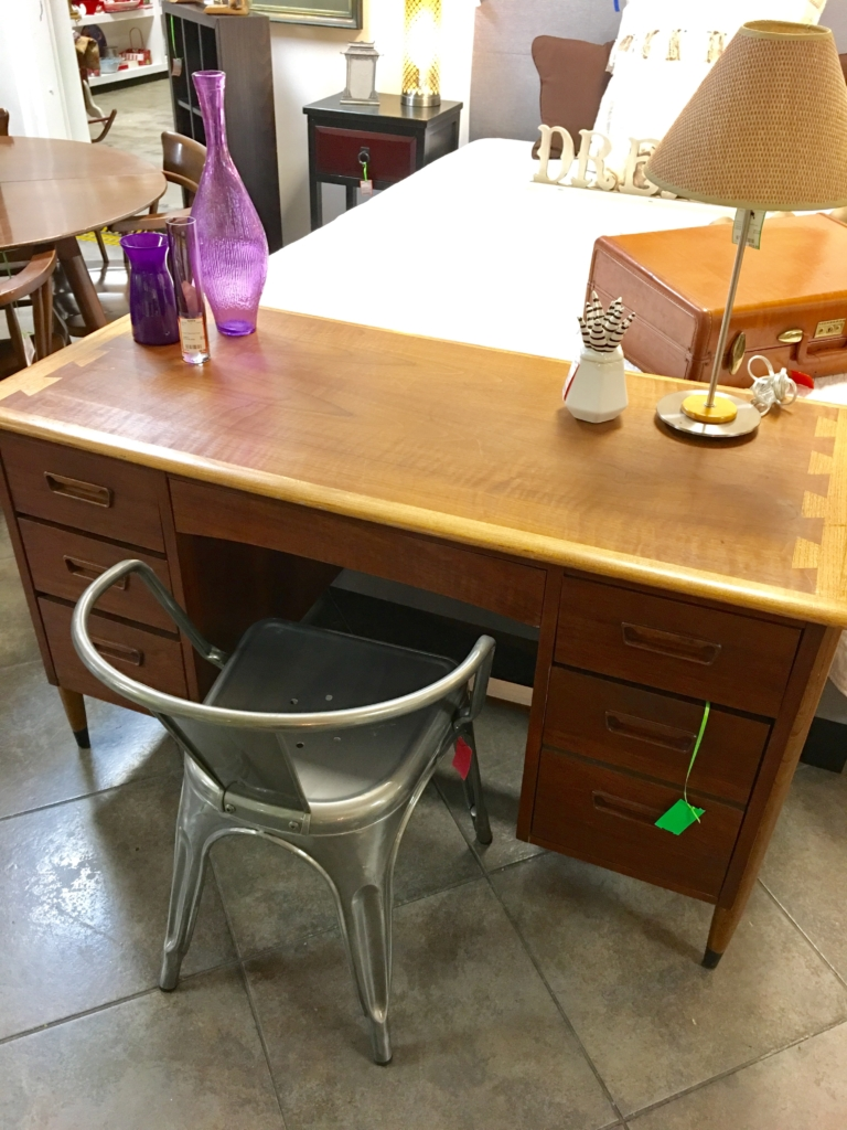 ... Mid Century Wood Desk And Metal Chair Consignment Furniture For Sale  Louisville KY ...