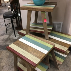 Multi Colored Side Tables and Coffee Table Consignment Furniture for Sale Louisville KY