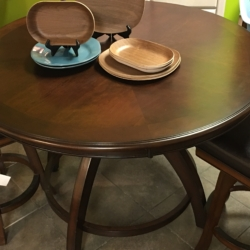 Round Pub Style Dark Wood Table Consignment Furniture for Sale Louisville KY