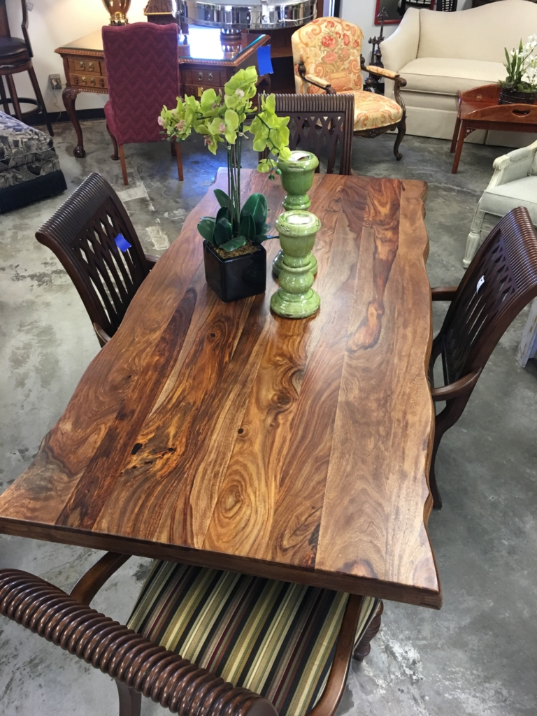 Wood Top Table With Metal Legs Consignment Furniture And Home Decor  Louisville