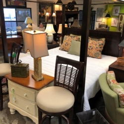 Dark Wood Canopy Queen Bed Consignment and New Furniture for Sale Louisville KY
