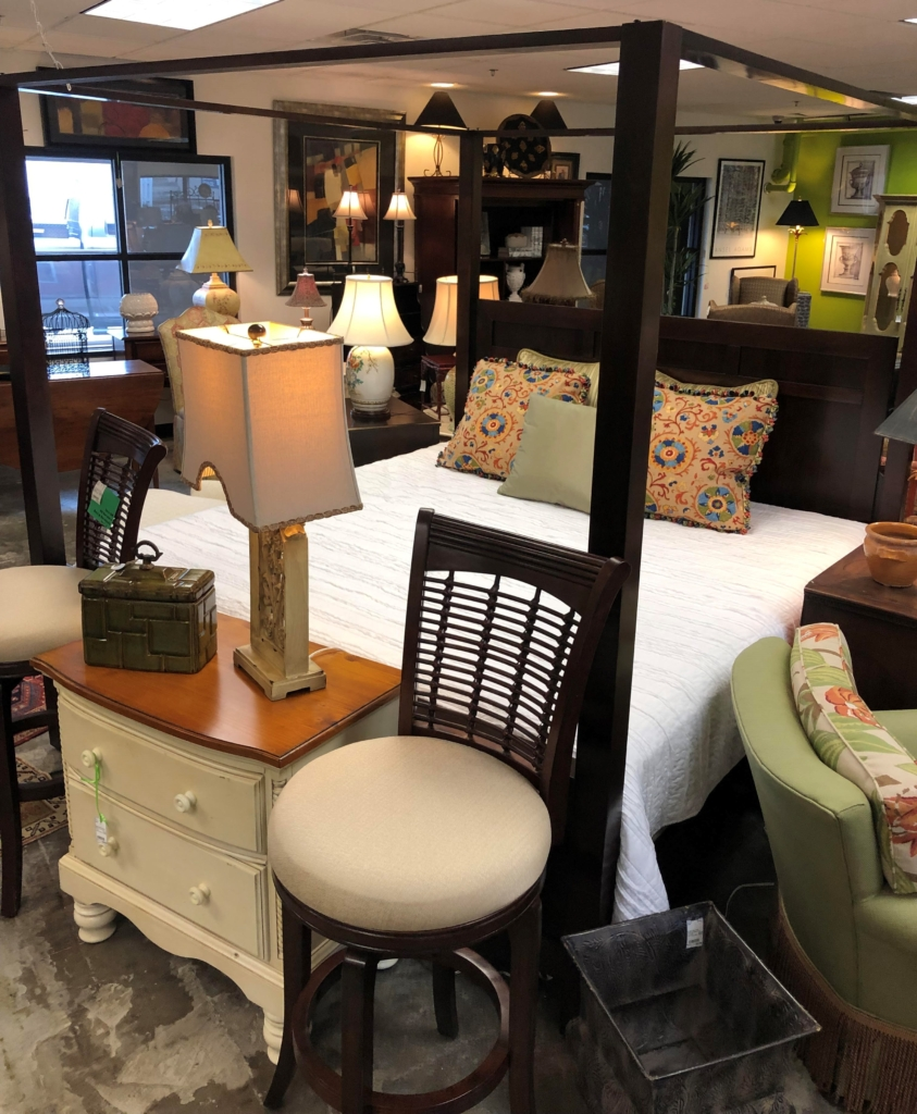 ... Dark Wood Canopy Queen Bed Consignment And New Furniture For Sale  Louisville KY ...