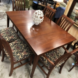 Dark Wood Dining Table and 6 Chairs Consignment Furniture for Sale Louisville KY