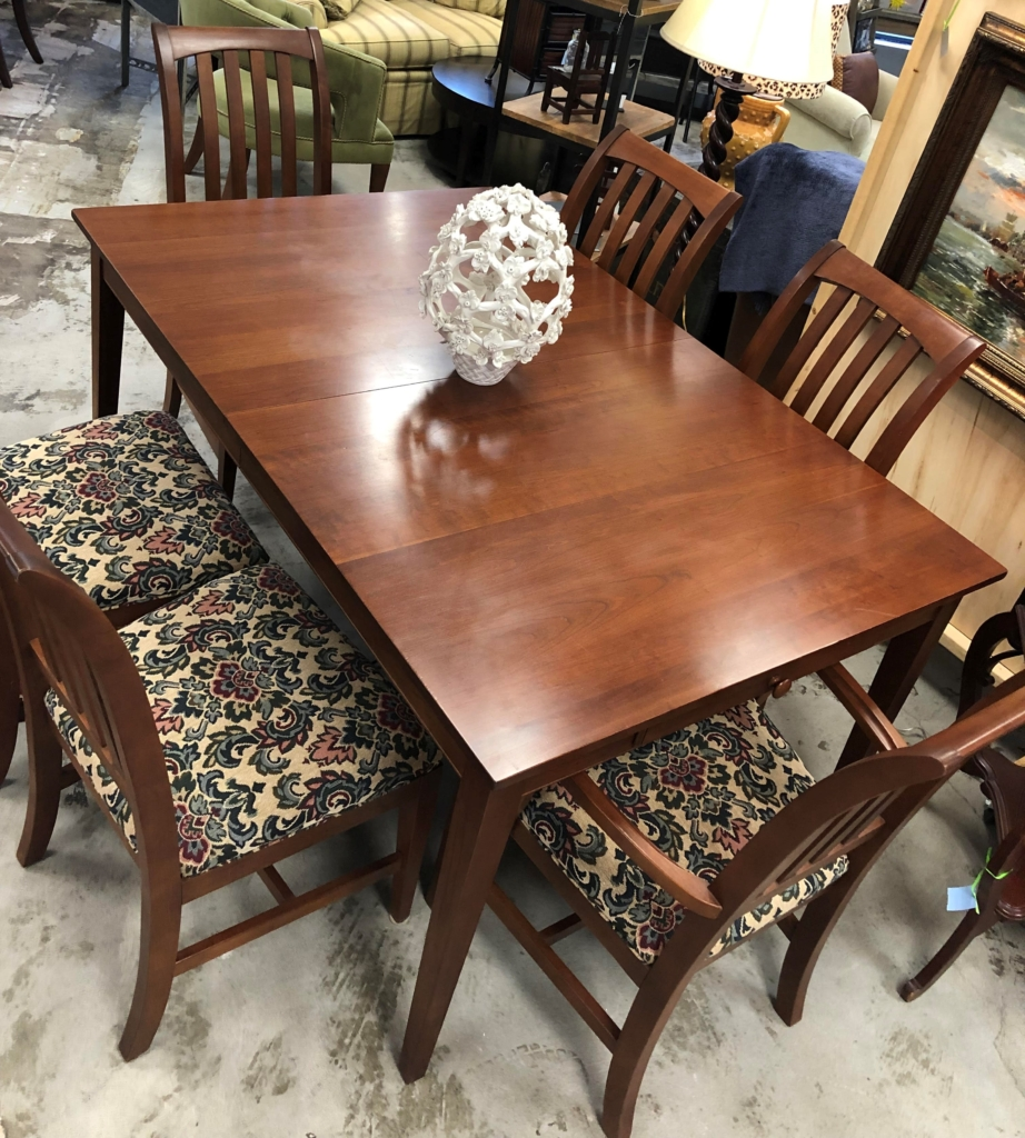 ... Dark Wood Dining Table And 6 Chairs Consignment Furniture For Sale  Louisville KY ...