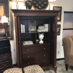 Dark Wood Media Cabinet Consignment and New Furniture for Sale Louisville KY