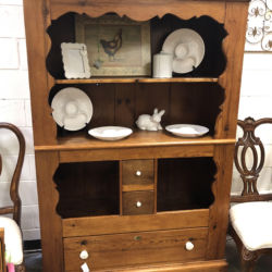 Vintage Wood Hutch with Drawers Consignment Furniture for Sale Louisville KY
