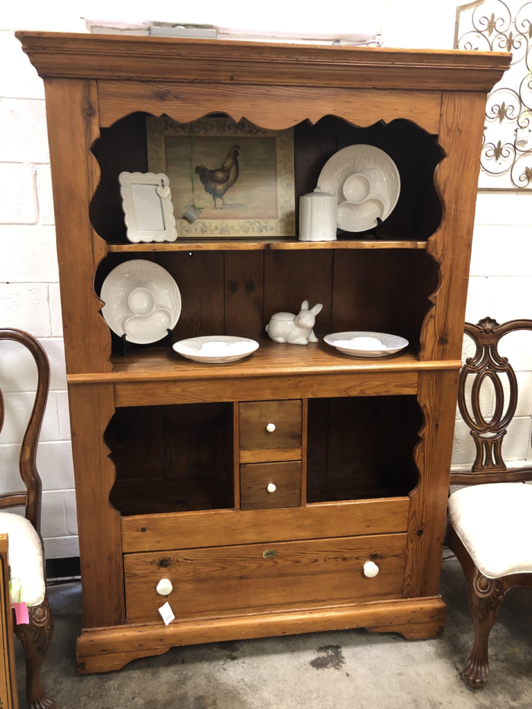 ... Vintage Wood Hutch With Drawers Consignment Furniture For Sale  Louisville KY ...