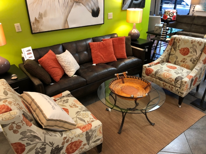Brand New Leather Sofa and Lillian August Chairs New and Consignment Furniture for Sale at eyedia Louisville KY