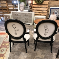 Black and Linen Upholstered Chairs New and Consignment Furniture for Sale Louisville KY