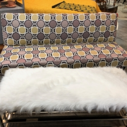 Futon and White Faux Fur Ottoman New and Consignment Furniture for Sale eyedia Lousivlle KTY