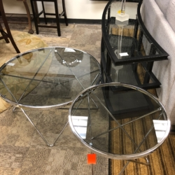 Glass and Chrome Side Tables New and Consignment Furniture for Sale Louisville KY
