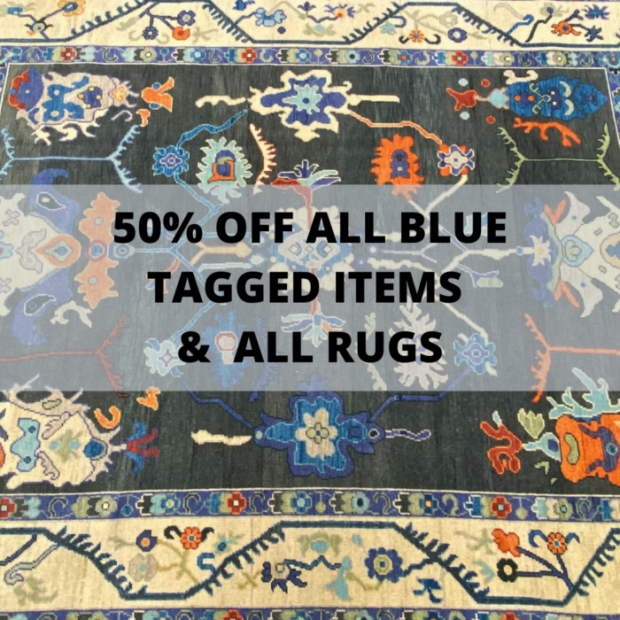 50 Off All Blue Tagged Items and All Rugs