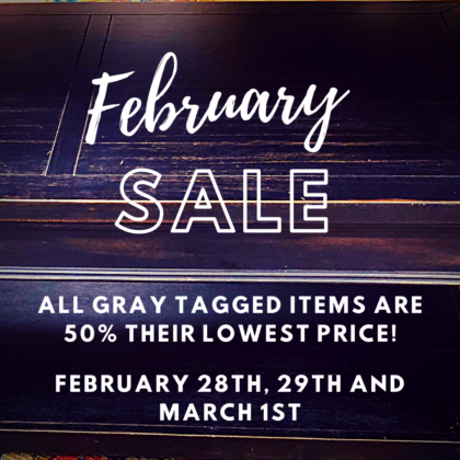 February 50 Off Sale