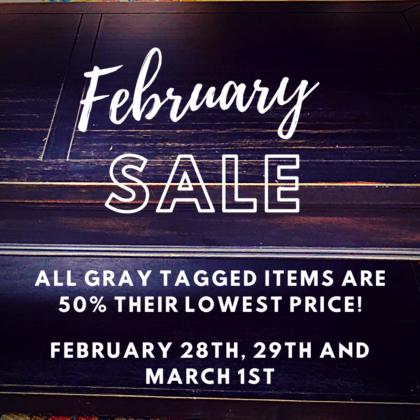 February 50 Off Sale