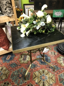 Gold and Black Side Table Consignment Furniture for Sale Louisville KY eyedia