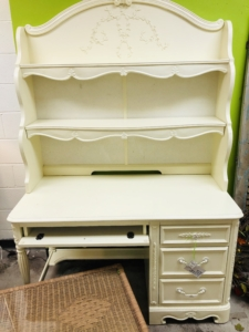 White Desk with Shelves Consignment Furniture eyedia Louisville KY