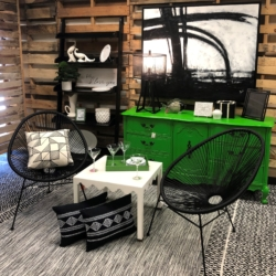 Black and Green Vignette Consignment Furniture and Home Decor for Sale at eyedia Louisville KY