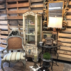 French Country inspired vignette consignment furniture and home decor for sale at eyedia Louisville KY