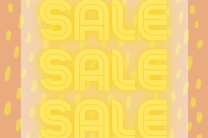 Yellow tagged items on sale at eyedia Louisville KY consignment furniture and home decor